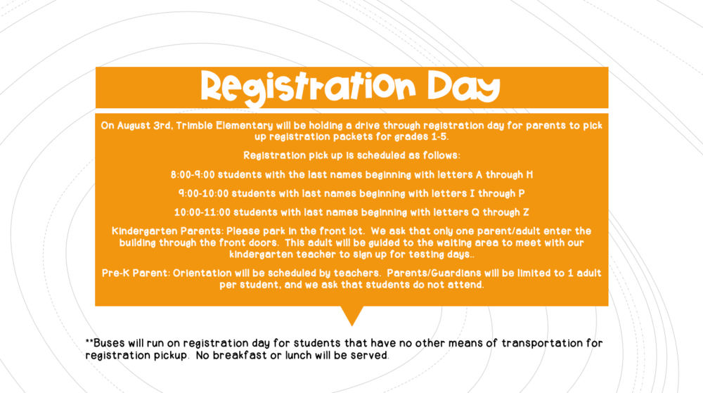 Registration Day information