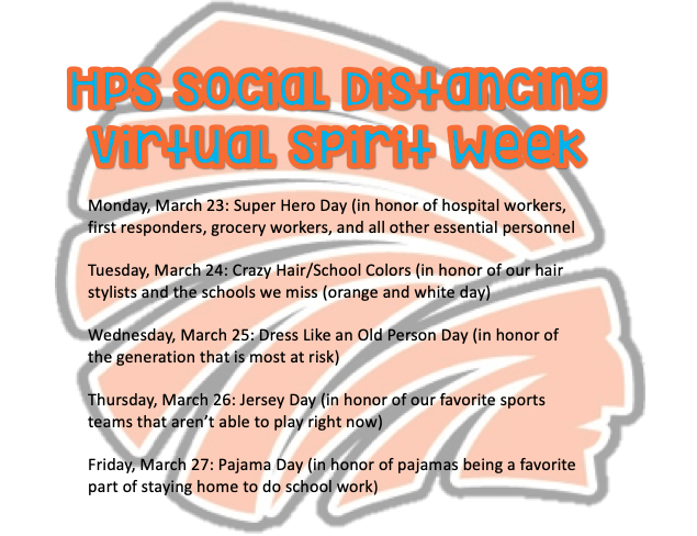 Virtual Spirit Week (March 23-27)