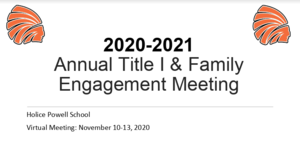 Title 1 and Family Engagement Meeting and Survey
