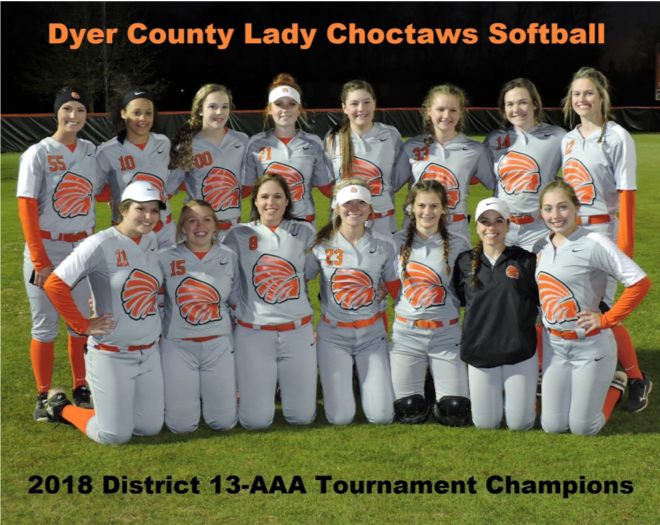 Lady Choctaws 2018 District 13-AAA Champions