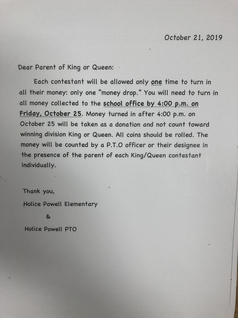 King and Queen donation information